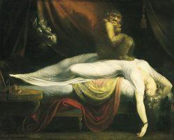 Cuadro inspirado en la parálisis del sueño