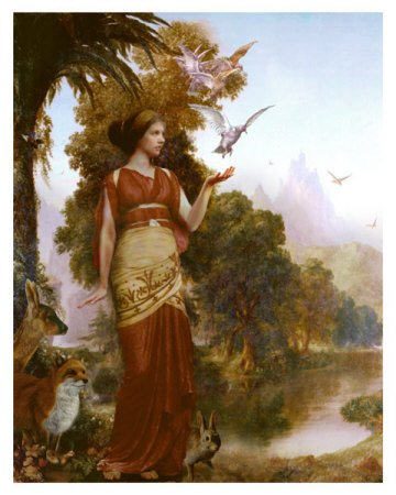 Relate these greek goddesses to tennis players Goddess of nature greek