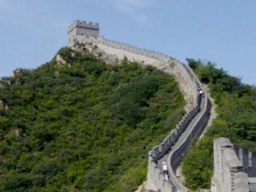 Tramo de la Gran Muralla China (puede verse una almena)