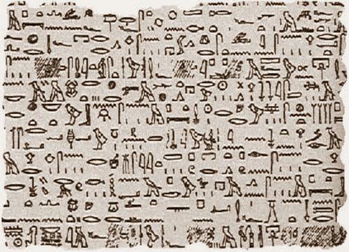 Una supuesta imagen del Papiro de Tulli