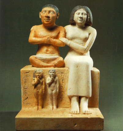 Estatuilla de Seneb y familia