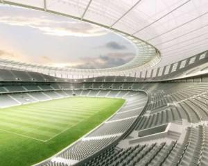 Foto de un estadio en Sudáfrica