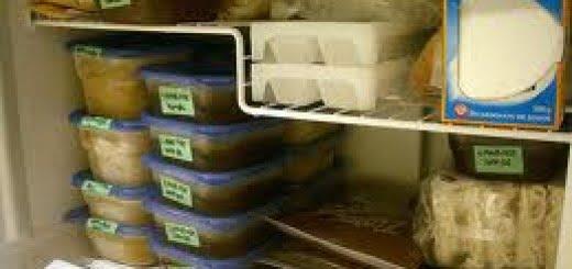 Congelación de alimentos en el freezer