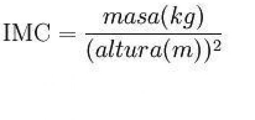 Fórmula de índice de masa corporal