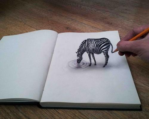 9 impresionantes ilusiones pticas con dibujos 3d a lpiz