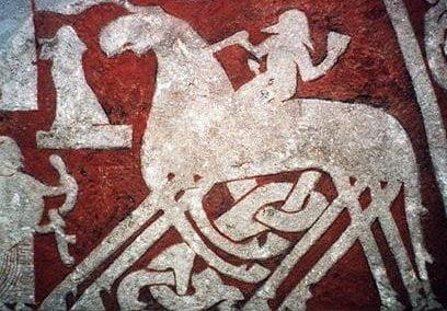 Odin cabalgando a Sleipnir